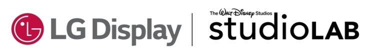 The corporate logos of LG Display and Walt Disney Studios' StudioLAB