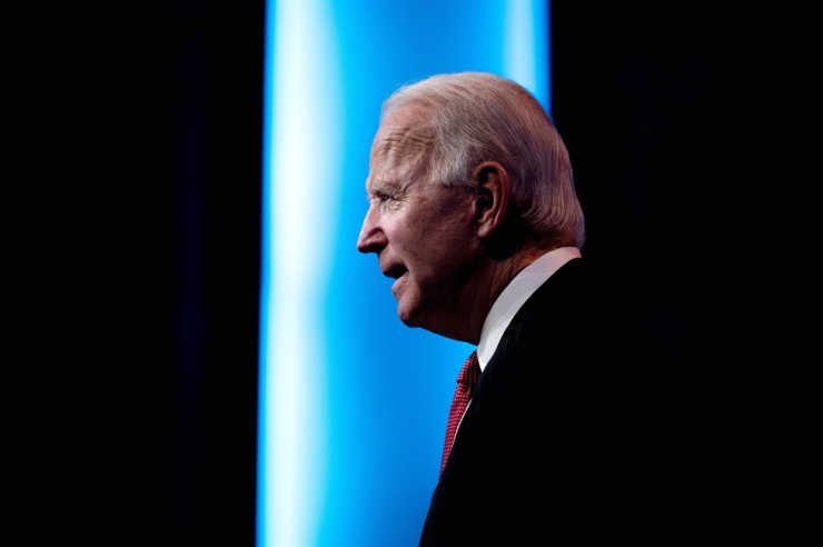 U.S. President-elect Joe Biden speaks after a meeting with governors in Wilmington, DE, Nov. 19, 2020. AFP