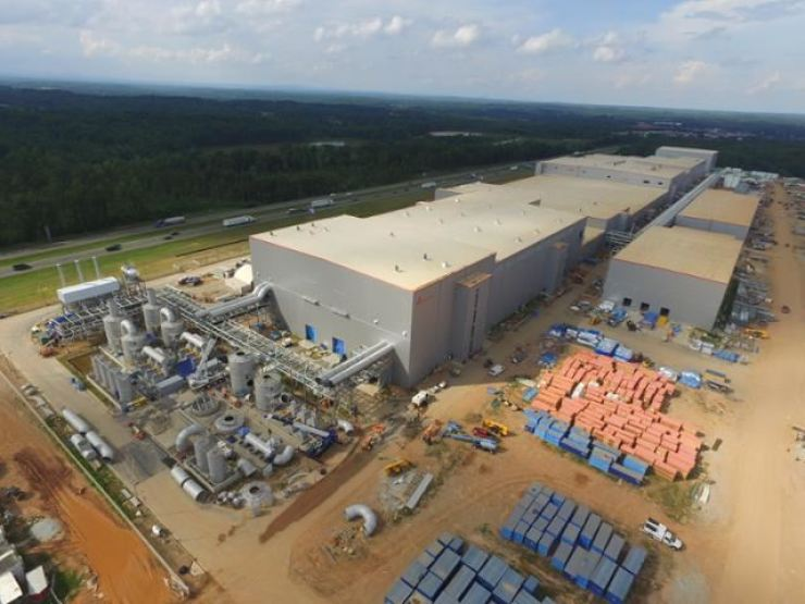 The construction site of SK Innovation's battery plant in Georgia. Courtesy of SK Innovation