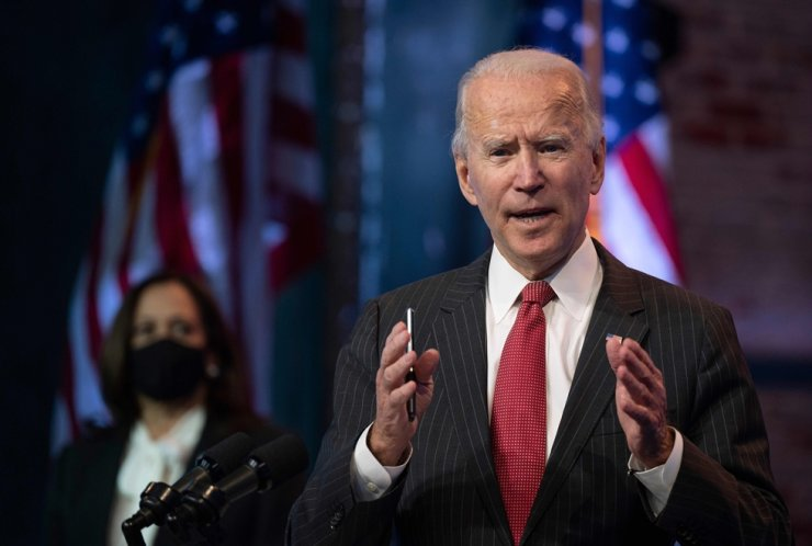 U.S. President-elect Joe Biden speaks after a meeting with governors in Wilmington, Delaware, Nov. 19, 2020. AFP