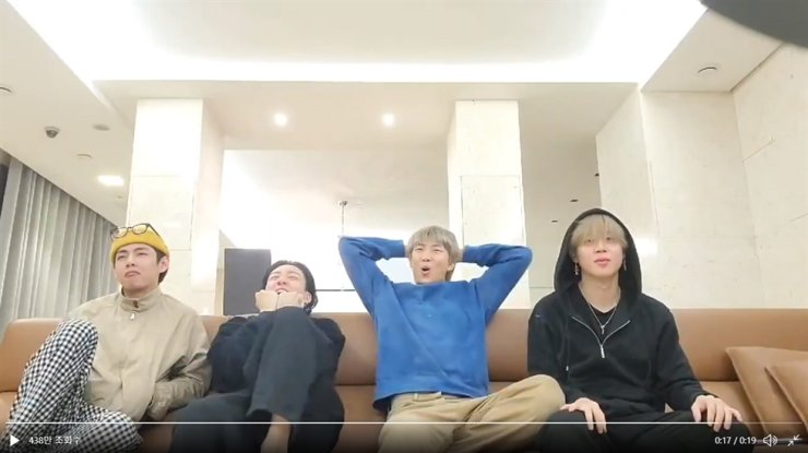Members of BTS react to the announcement of the nominees of categories for the 63rd Grammy Awards, where the K-pop sensation was nominated for the Grammy Award in the category of best pop duo/group performance for chart-sweeping single