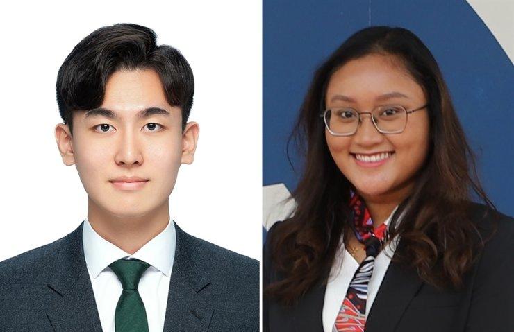 Jung Ho-joon, left, and Maria Natasha Lintang