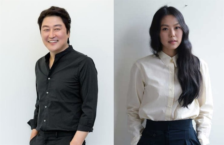Caption: Song Kang-ho and Kim Min-hee are listed on the New York Times'