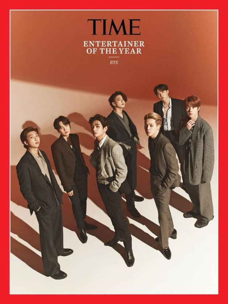 BTS is named Time Magazine's Entertainment of the Year for 2020. / Courtesy of Time Magazine