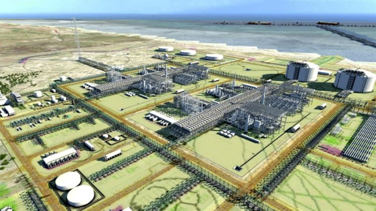 A render of LNG plants in Mozambique / Courtesy of Mitsui