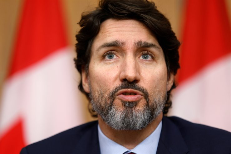 Canada's Prime Minister Justin Trudeau attends a news conference, as efforts continue to help slow the spread of the coronavirus disease (COVID-19) in Ottawa, Ontario, Canada, Dec. 7, 2020. Reuters