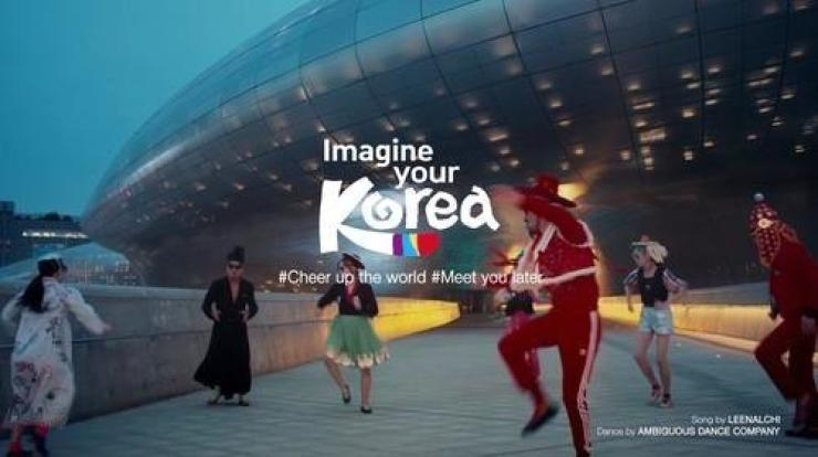 A scene from 'Feel the Rhythm of Korea,' a video series promoting tourism. The series, produced by the Korea Tourism Organization, won an award at the Tourism Innovation Summit in Spain. / Yonhap
