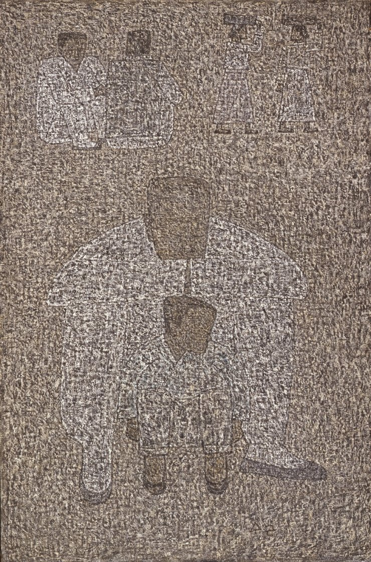 Park Soo-keun's 'Grandfather and Grandson' (1960) will be shown at the artist's retrospective at MMCA Deoksugung scheduled in November. Courtesy of MMCA