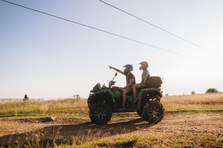Tourists can enjoy off-road driving with ATVs in jungle, beache and green field area of the Marianas. / Courtesy of Marianas Visitors Authority Korea