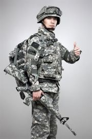 A South Korean soldier poses in digital camouflage-pattered uniform and gears. The country is ranked the sixth in the Global Firepower (GFP) 2021 index on the military strength by countries. Gettyimagebank