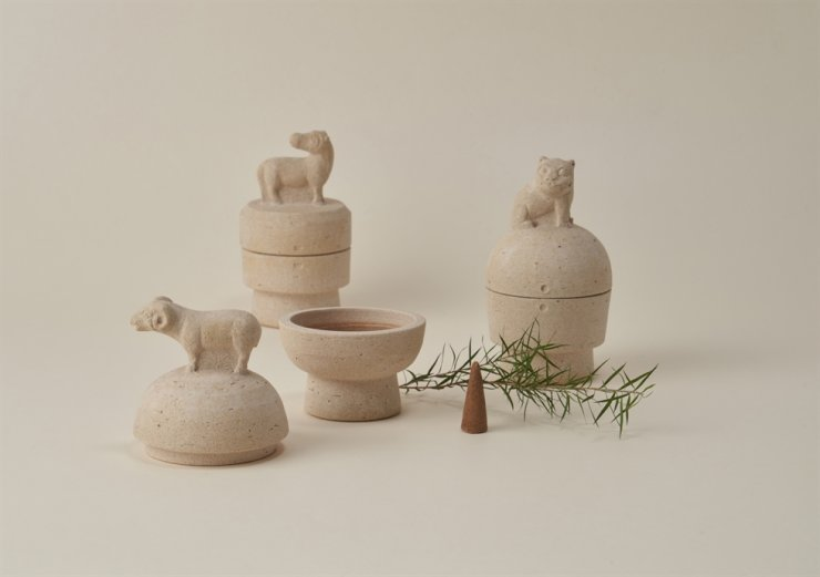 'My Guardian, incense burner with stone figure series' by Lee Sol-chan / Courtesy of KNUCH