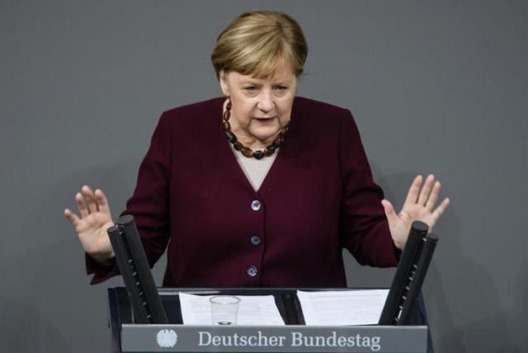 German Chancellor Angela Merkel. EPA-Yonhap