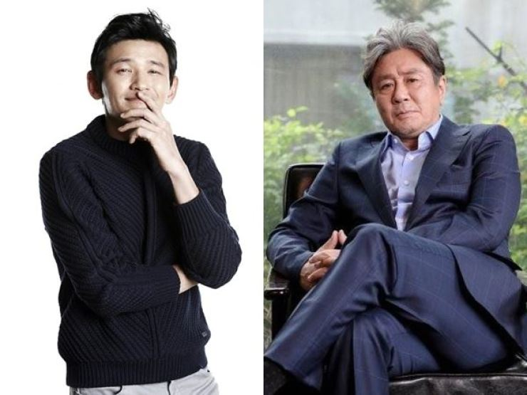 Actors Hwang Jung-min, left, and Choi Min-sik / Courtesy of KeyEast, C-Jes Entertainment