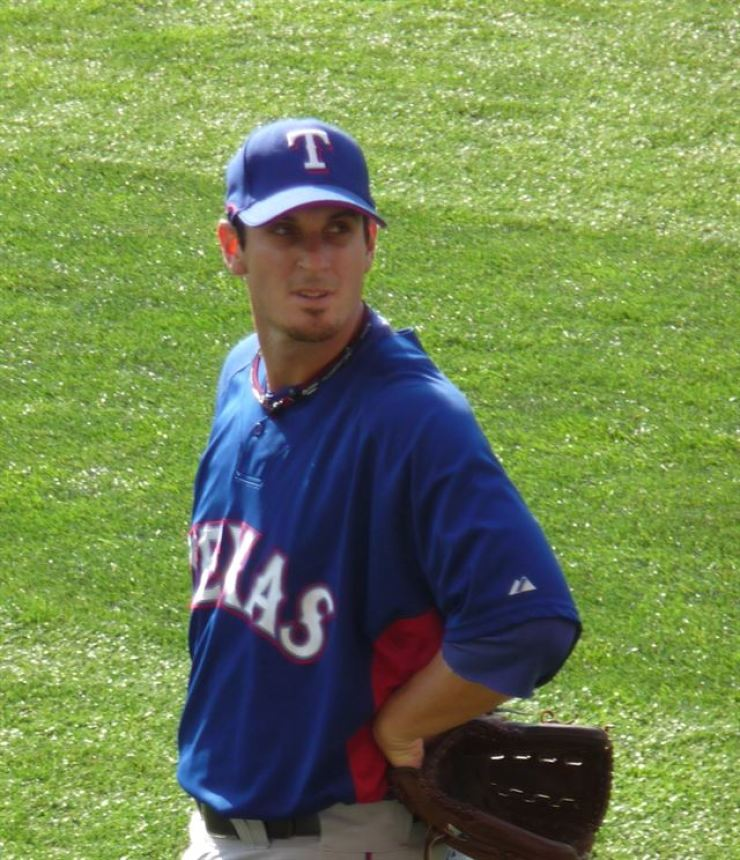 Doug Mathis playing for the Texas Rangers / Courtesy of Wikipedia