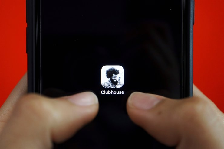 The social audio app Clubhouse is seen on a mobile phone in this illustration picture taken Feb. 8, 2021. Reuters