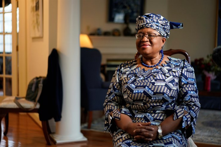 Incoming World Trade Organization President Ngozi Okonjo-Iweala speaks during an interview with Reuters in Potomac, Maryland, U.S., Feb. 15, 2021. Reuters