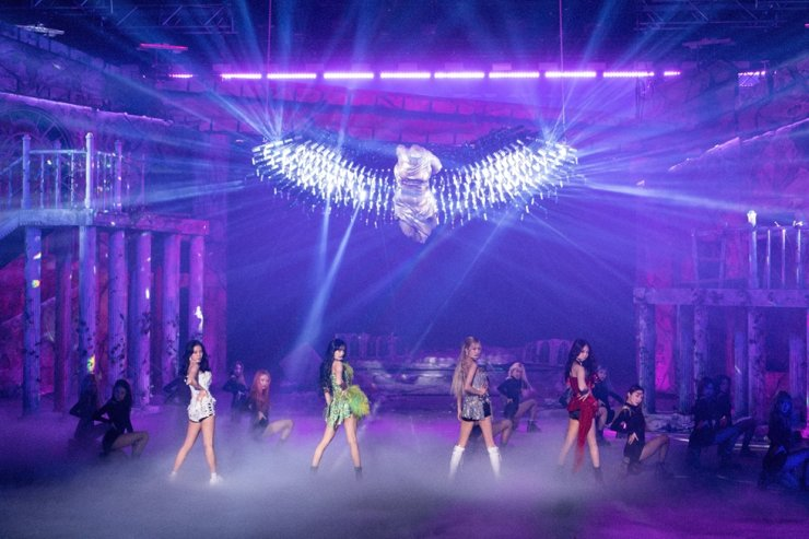 A scene from BLACKPINK's 'The Show,' the K-pop girl group's first livestream concert held on Jan. 31. Courtesy of YG Entertainment