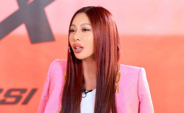 Singer Jessi speaks during an online press conference Wednesday. Courtesy of P Nation