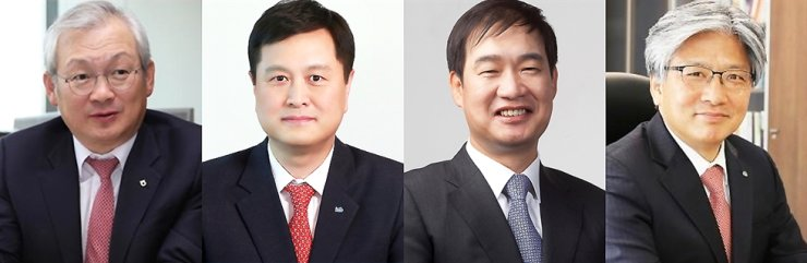 From left, NH Securities & Investment CEO Chung Young-chae, KTB Investment & Securities CEO Lee Chang-keun, Eugene Investment & Securities Yoo Chang-soo, and IBK Securities CEO Suh Byung-ki / Courtesy of each company