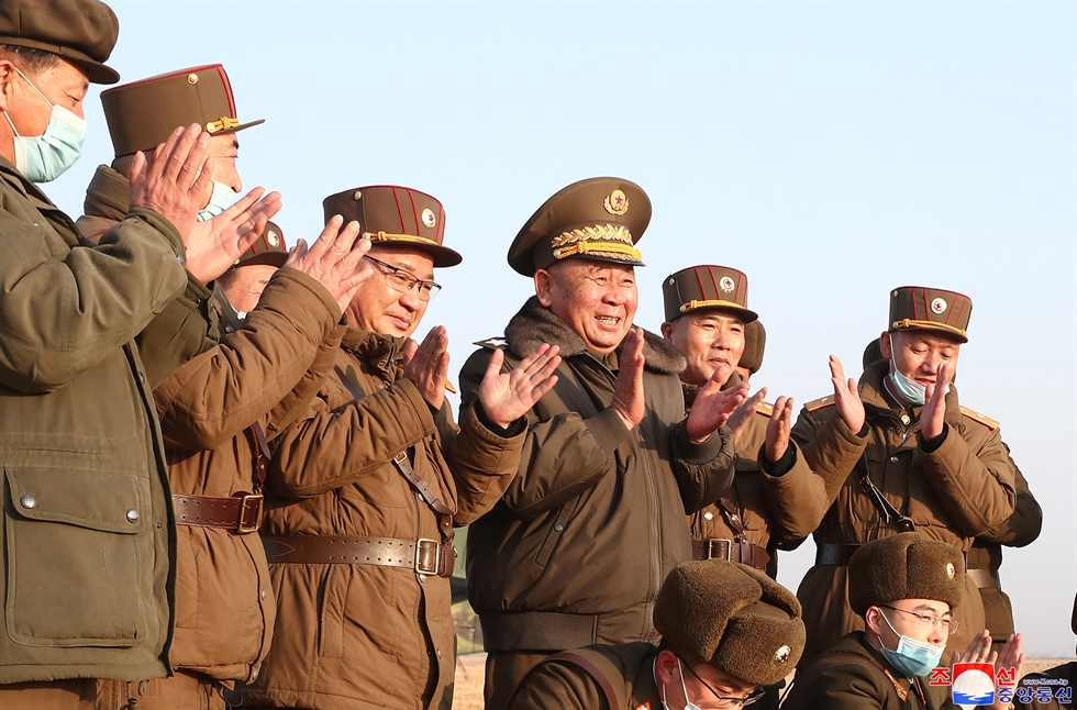 A missile is launched by the North Korean military, Thursday. North Korea said Friday that it test-fired new tactical guided missiles. Yonhap
