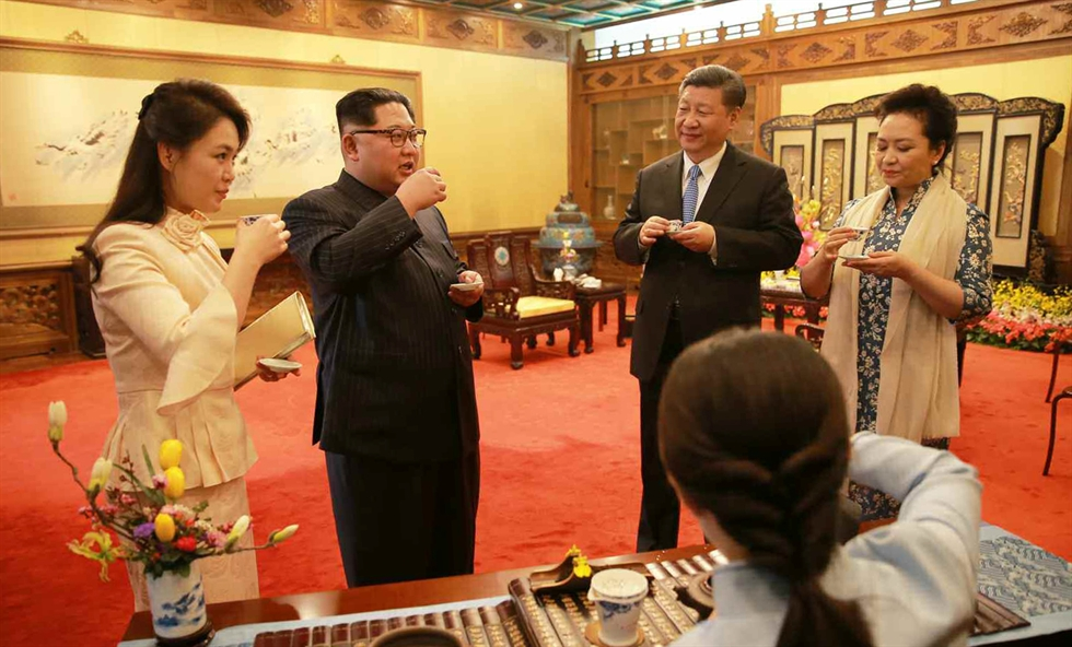 North Korean leader Kim Jong-un visits the North Korean Embassy in Beijing on June 21, 2018. Pyongyang recently appointed a trade specialist to head its embassy in Beijing. Yonhap