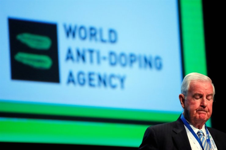 Craig Reedie, then president of the World Anti-Doping Agency (WADA), attends the WADA Symposium in Ecublens, near Lausanne, Switzerland, in this March 2018 file photo. Reuters-Yonhap