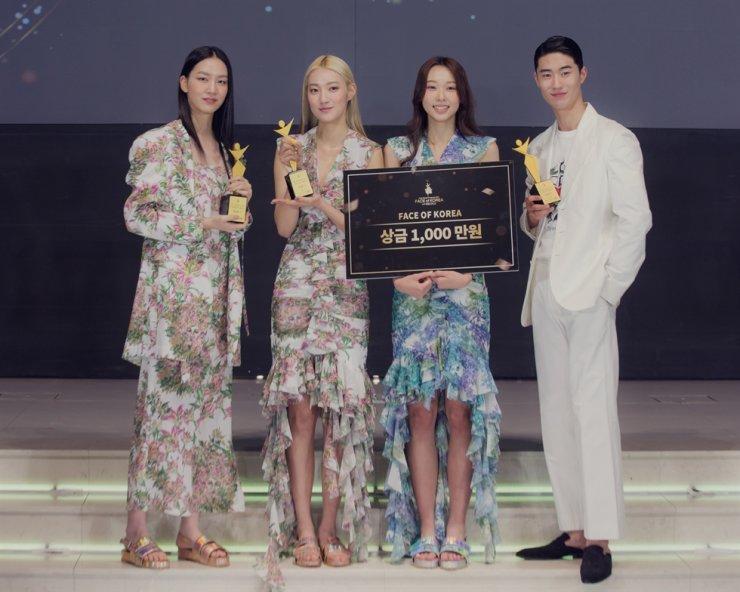 Winners of 2021 FACE of Korea / Courtesy of Asia Model Festival Organizing Committee (AMFOC)