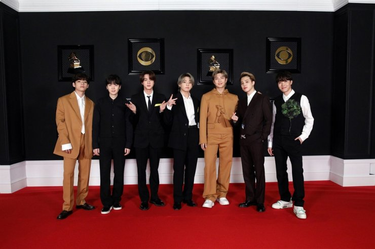 BTS after being selected 'global ambassadors' of Louis Vuitton on April 23 / Courtesy of Louis Vuitton