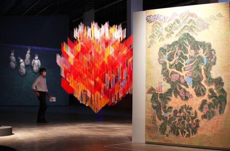 The 13th Gwangju Biennale exhibition shows Outi Pieski's