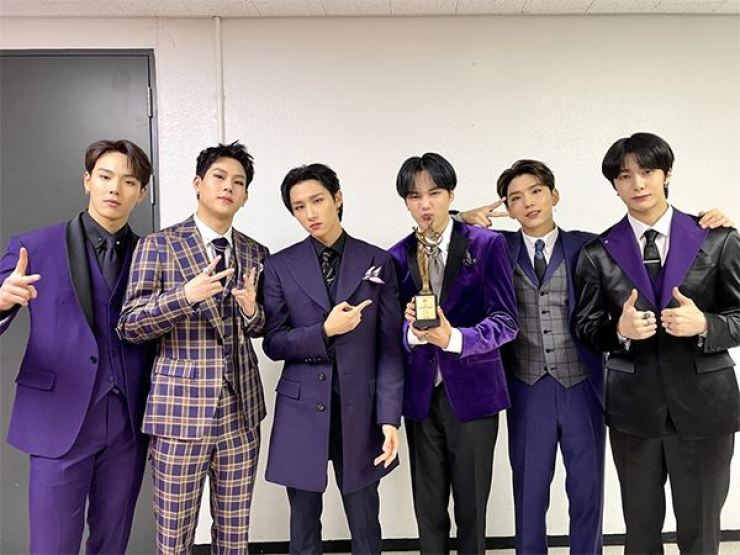 Members of K-pop boy band Monsta X pose in this file photo. The group called off its concert in March due to the COVID-19 pandemic. Courtesy of Starship Entertainment