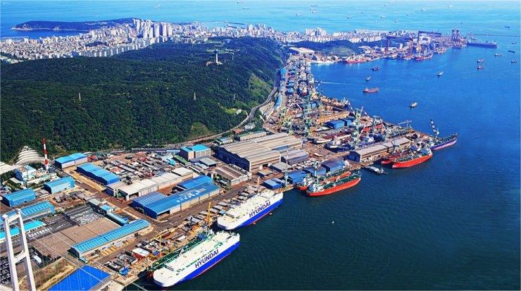 Hyundai Heavy Industries' Ulsan shipyard / Courtesy of Hyundai Heavy Industries