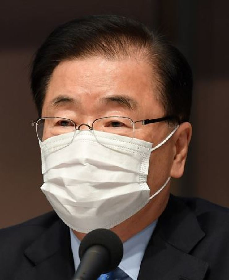 Foreign Minister Chung Eui-yong