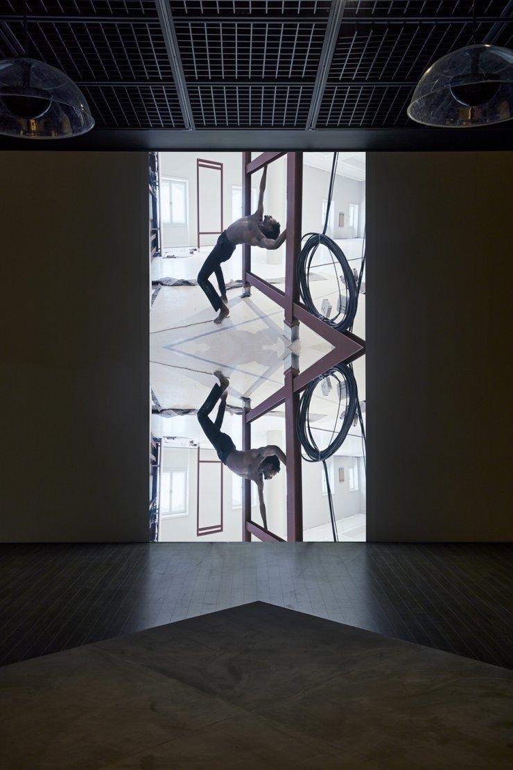 Theo Eshetu's video installation,