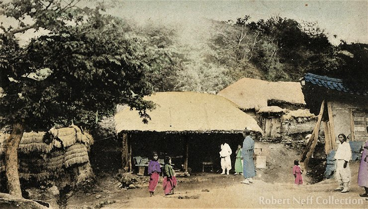 A small Korean village in the late 19th or early 20th century / Robert Neff Collection