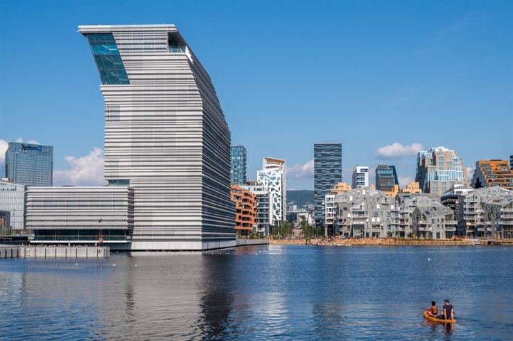 View of the new Munch Museum building in Oslo, Norway / Courtesy of Munch Museum
