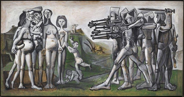 'Massacre in Korea' (1951) by Pablo Picasso / Courtesy of 2021 - Succession Pablo Picasso - SACK (Korea)
