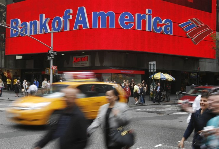 Seen is a Bank of America branch in New York in May 2009. Reuters-Yonhap
