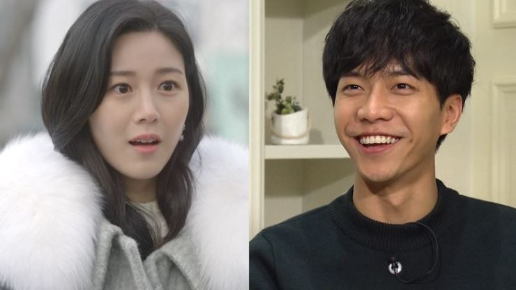 Actress Lee Da-in, left, and singer/actor Lee Seung-gi are dating. Courtesy of KBS