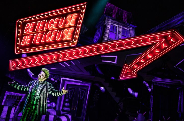 Alex Brightman in the Broadway run of the musical 'Beetlejuice' / Courtesy of Matthew Murphy