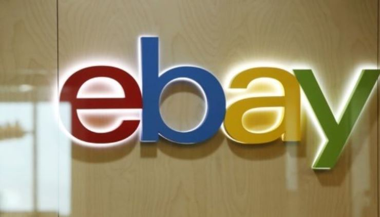 The logo of eBay is seen at eBay Korea's Seoul headquarters on March 16. Yonhap