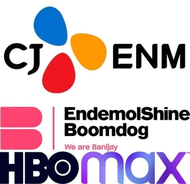 Logos of CJ ENM, Endemol Shine Boomdog and HBO Max / Courtesy of CJ ENM, Endemol Shine Boomdog, HBO Max