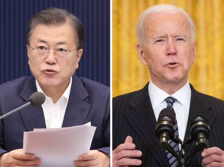 South Korean President Moon Jae-in and U.S. President Joe Biden / Yonhap