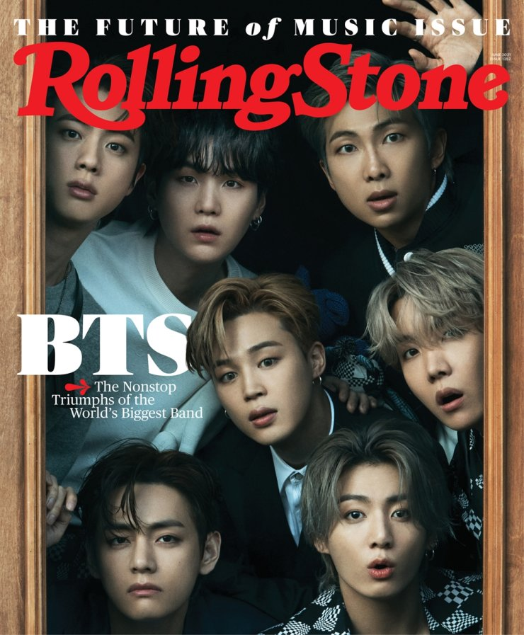 BTS on the cover of the latest issue of Rolling Stone / Courtesy of Rolling Stone