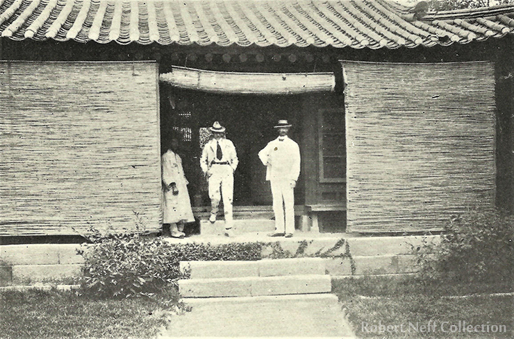 The American and British legations of Seoul, circa 1890s. The Moffett Collection courtesy of Presbyterian Historical Society, Philadelphia, PA