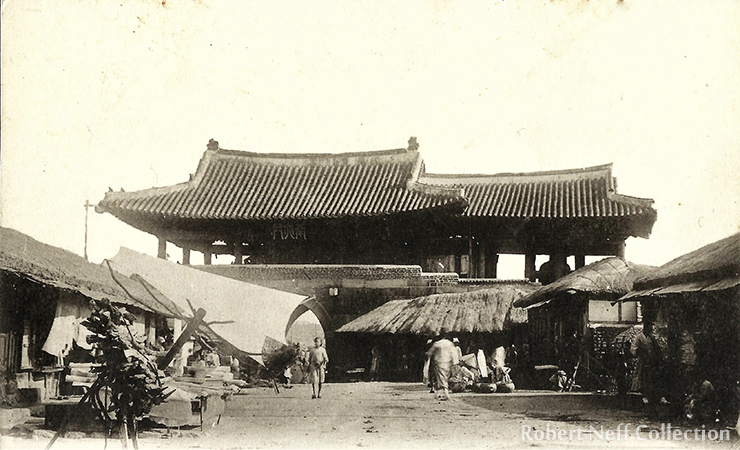 A street in Seoul in the winter of 1883/84.  Robert Neff Collection