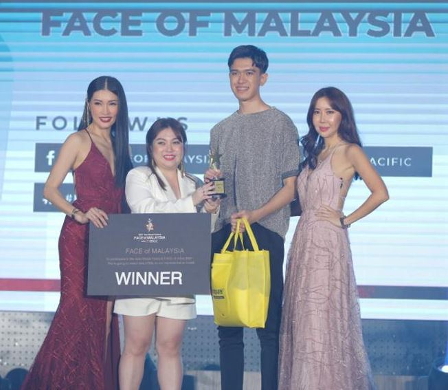 Participants pose during the 2021 FACE of Malaysia modeling competition at the Manhattan Ballroom of Berjaya Time Square Hotel in Kuala Lumpur, April 3. Courtesy of AMFOG