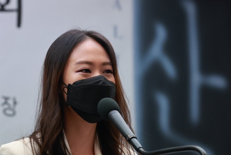 Son Yeol-eum, pianist and artistic director of 'Music in PyeongChang,' speaks during a press conference held to promote the biannual classic festival at the Korea Press Center, Seoul, Tuesday. Yonhap