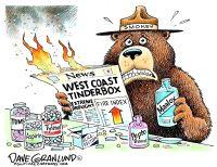 West Coast tinderbox