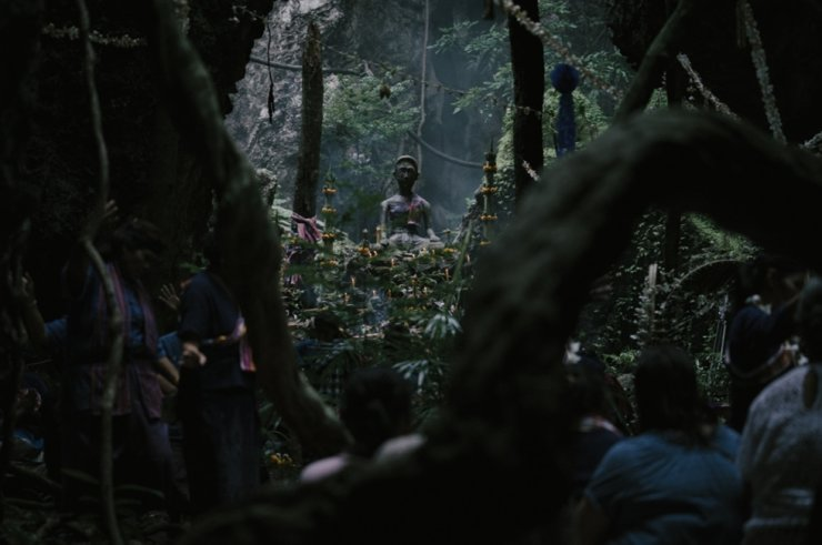 A scene from the film