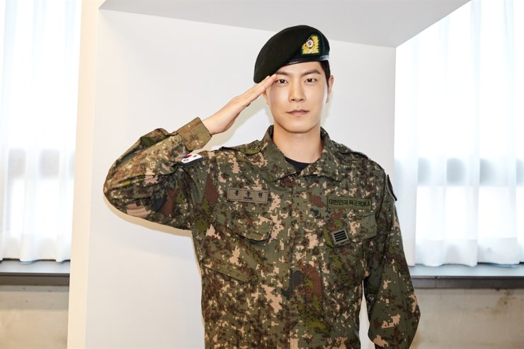 Actor Hong Jong-hyun has been discharged from the military. Courtesy of C-JeS Entertainment